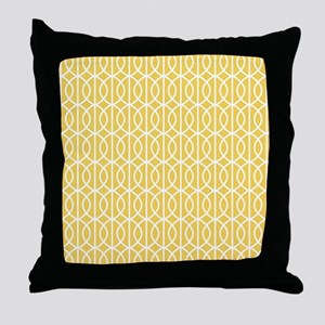 Mimosa Yellow Modern Pattern Throw Pillow