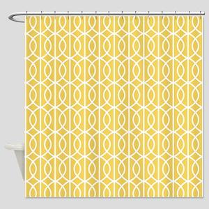 Mimosa Yellow Modern Pattern Shower Curtain