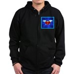 Sufi Peace Equality Graphic Zip Hoodie (dark)