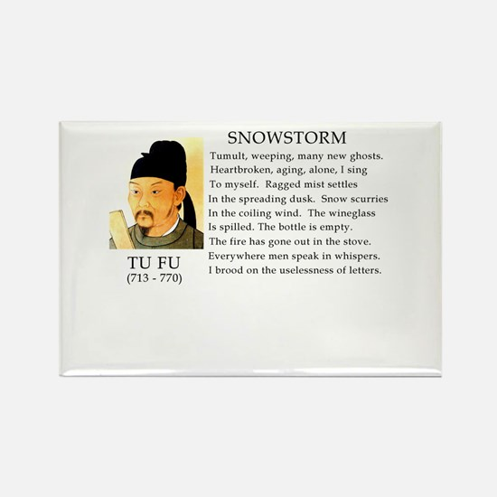 Snowstorm by Tu Fu Rectangle Magnet