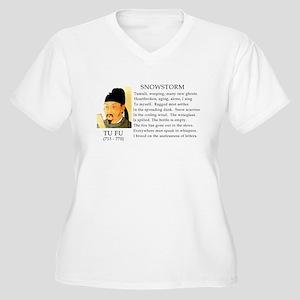 Snowstorm by Tu Fu Women's Plus Size V-Neck T-Shir