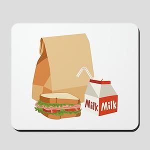 Paper Bag Milk Sandwich Mousepad