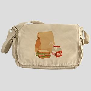 Paper Bag Milk Sandwich Messenger Bag