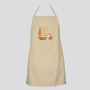 Paper Bag Milk Sandwich Apron