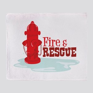 Fire And Rescue Throw Blanket
