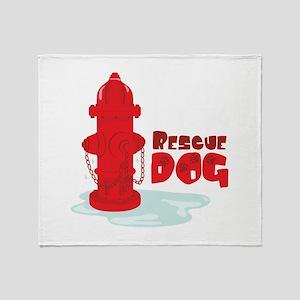Rescue Dog Throw Blanket