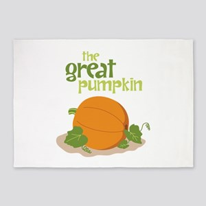 the Great Pumpkin 5'x7'Area Rug