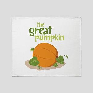 the Great Pumpkin Throw Blanket