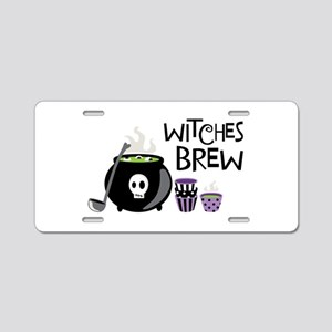 WITCHES BREW Aluminum License Plate