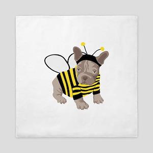 Halloween French Bulldog Bumble Bee Queen Duvet