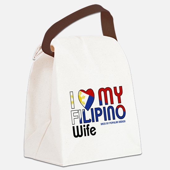 I Love My Filipino Wife Canvas Lunch Bag
