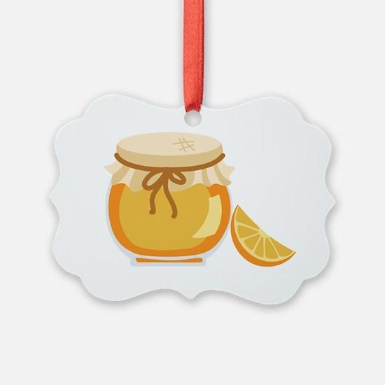 Orange Marmalade Jelly Jar Ornament