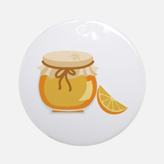 Orange Marmalade Jelly Jar Ornament (Round)
