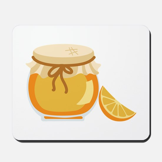 Orange Marmalade Jelly Jar Mousepad