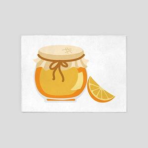 Orange Marmalade Jelly Jar 5'x7'Area Rug
