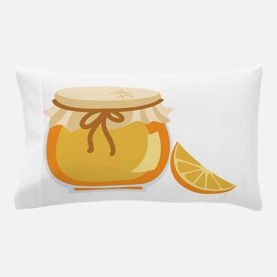 Orange Marmalade Jelly Jar Pillow Case