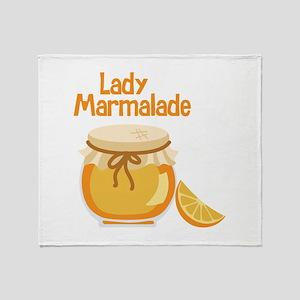Lady Marmalade Throw Blanket