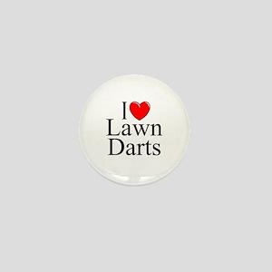 """""""I Love (Heart) Lawn Darts"""" Mini Button"""