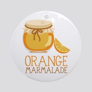 ORANGE MARMALADE Ornament (Round)