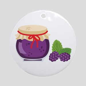 Blackberry Jam Jar Ornament (Round)