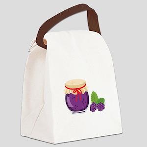 Blackberry Jam Jar Canvas Lunch Bag