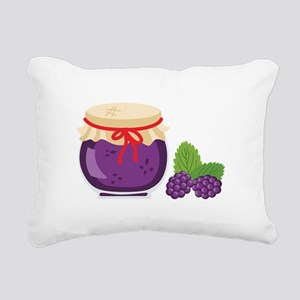 Blackberry Jam Jar Rectangular Canvas Pillow