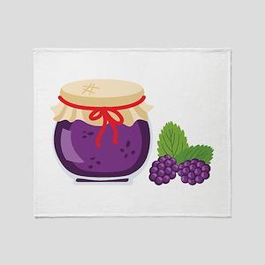 Blackberry Jam Jar Throw Blanket