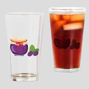 Blackberry Jam Jar Drinking Glass