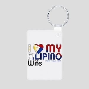 I Love My Filipino Wife Keychains