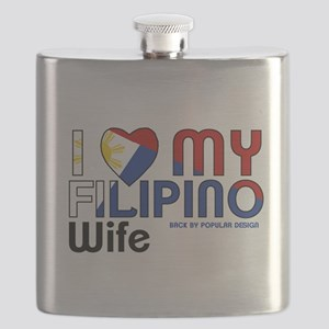 I Love My Filipino Wife Flask
