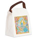 Art Nouveau Lady Canvas Lunch Bag