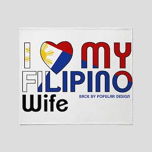 I Love My Filipino Wife Throw Blanket