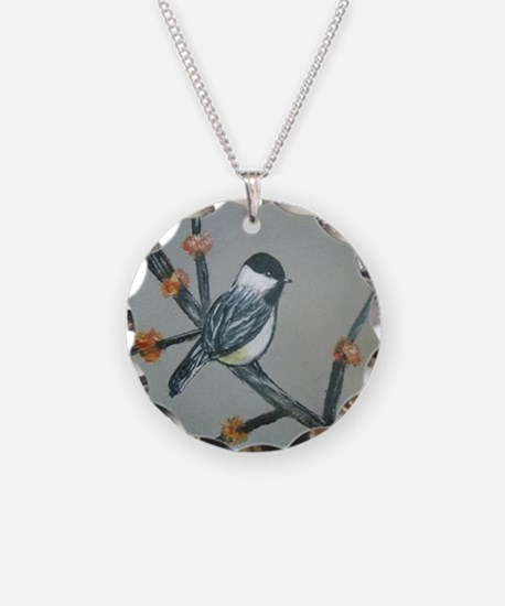 Chickadee and Blossoms Necklace