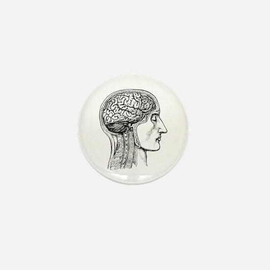 The Human Brain Mini Button
