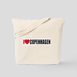 I Love Copenhagen, Denmark Tote Bag