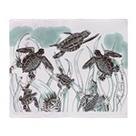 Sea Turtles Throw Blanket