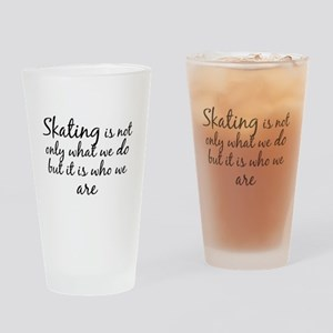 Skating Who We Are Drinking Glass