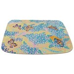 Butterfly And Hydrangea Bathmat Bathmat