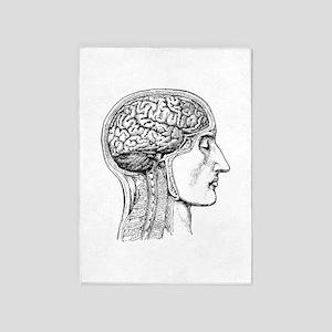 The Human Brain 5'x7'Area Rug