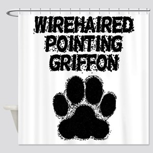 Wirehaired Pointing Griffon Distressed Paw Print S