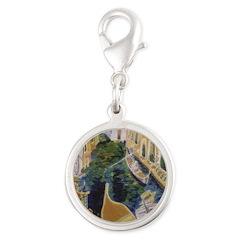 Gondolier Of Venicesilver Roun Silver Round Charm