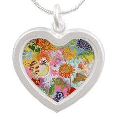 I Love You Mom Silver Heart Silver Heart Necklace