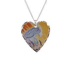 Stallion Horse Heart Necklace