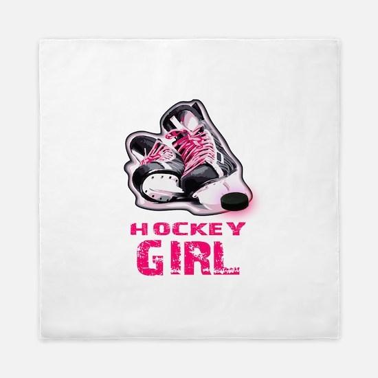 hockey girl Queen Duvet