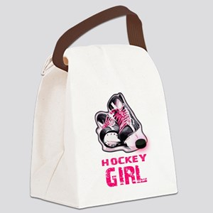 hockey girl Canvas Lunch Bag