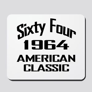 50th Gifts, 1964 American Classic Mousepad
