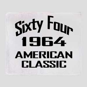 50th Gifts, 1964 American Classic Throw Blanket