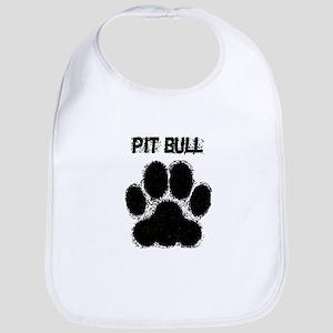 Pit Bull Distressed Paw Print Bib