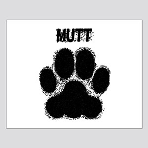 Mutt Distressed Paw Print Posters