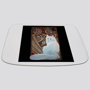 White Turkish Angora Bathmat Bathmat